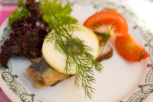 Groften fried herring smorrebrod