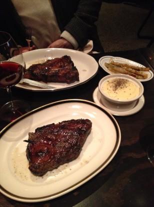 m wells steakhouse dinner