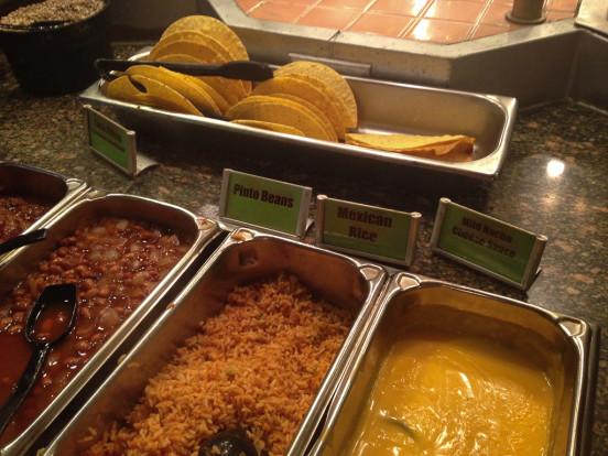 sizzler taco bar