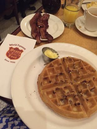 sears fine food pecan waffle
