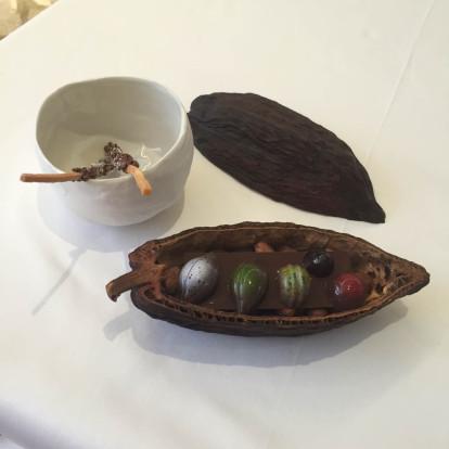 gabriel kreuther coconut hazelnut pocky, mignardises