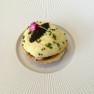gabriel kreuther sturgeon & sauerkraut tart, american caviar mousseline, applewood smoke