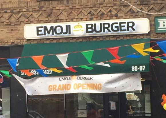 emoji burger facade