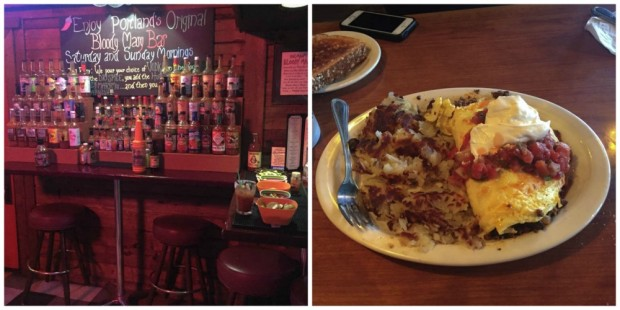 holman's bloody mary and omelet